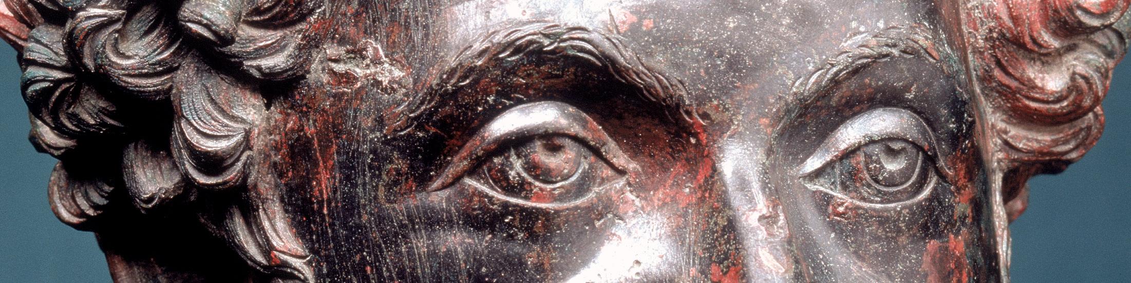 Marcus Aurelius bronze portrait found in Pecs, Hungary