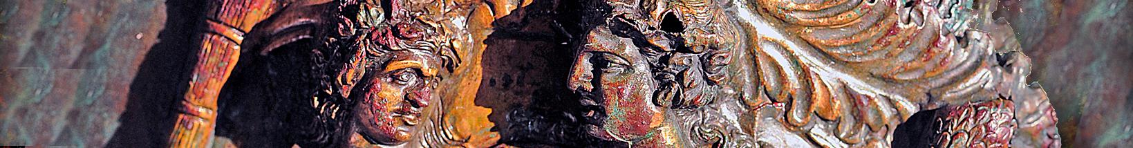 Detail on a bronze mirror