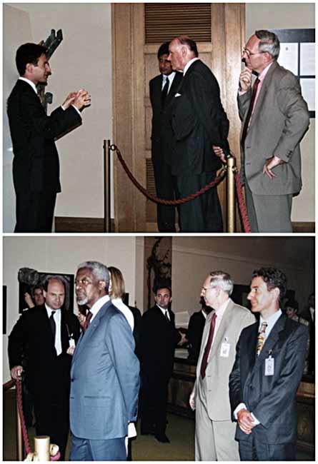 Armillary sfere with Kofi Annan
